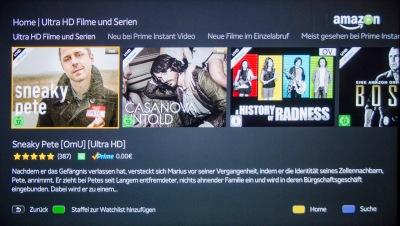 Hausgemachte Serien von Amazon (Bild) und Netflix gibt es auf passenden XXL-Smart-TVs in ultrascharfer UHD-Auflösung. Knackig wie ein 8 Megapixel-Foto. Für einen niederen bis mittleren Taschengeldbetrag im Monat. Noch Fragen?