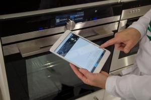Auch die schlaue Küche war vertreten – Bei Siemens wurde Abgestützt gekocht und gebacken.