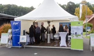Die EnOcean-Alliance präsentierte sich mit mehreren Mitgliedsfirmen in einem Gemeinschaftsstand.