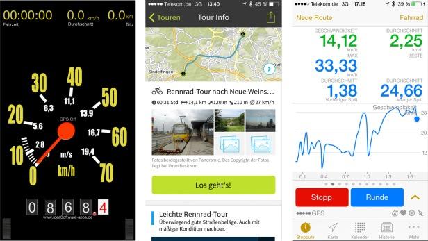 Vom Retro-Tacho bis zum Tourenplaner und Universal-Fitnesscomputer. Rad-Apps gibt es für jede Lebenslage.